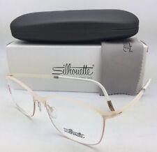 New SILHOUETTE Eyeglasses SPX 1575 20 6056 53-16 135 Matte Ivory and Gold Frames