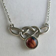 Celtic Knot Weave 4.8g [3530] Sterling Silver Agate Pendant with
