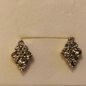 10ct gold and tanzanite earrings 1.6 gms