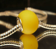 Edler Glas Bead Element Matt Gelb für Armband 0452