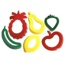 FRUIT Shaped Plastic Cutters X6, Modelling Dough - Cooking - Children - Craft