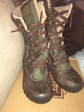 TIMBERLAND Mount Holly Tall Lace Boots Waterproof Brown 21644 US WOMEN'S SZ 7.5M