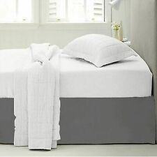 """Luxury 14"""" Drop Bed Skirt Full King Queen Size Microfiber Pleated Bed Skirts"""