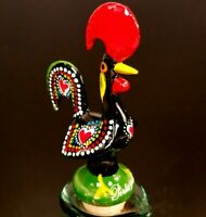 Rooster Portugal Wine Bottle Stopper Vintage Traditional Hand Painted Portuguese