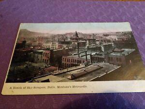 Very Old Postcard Of Skyscrapers, Butte, Montanas Metropolis