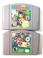 Nintendo 64 N64 Super Mario & Diddy Kong Racing Video Game Lot Tested Authentic!