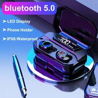 Mini Bluetooth 5.0 Headset TWS LED Wireless Earphones In-Ear Earbuds Headphones