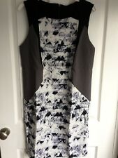 YAS black & grey fully lined shift dress - size 8