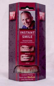 Instant Smile Deluxe Teeth MEDIUM Top Fake Cosmetic Impression Material