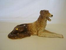 Russian Wolfhound ROYAL DUX Bohemia porcelain figurine Czech Republic hand paint