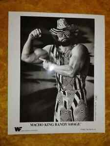 Macho King Randy Savage black & white glossy promo photo P-004 WWF 1990