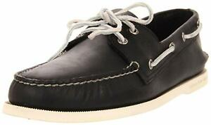 Sperry Top-Sider Men's A/O 2-Eye Black/White Boat Shoes
