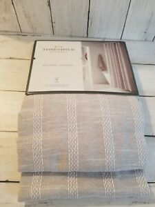 BRAND NEW THRESHOLD SHOWER CURTAIN GREY AND WHITE COTTON