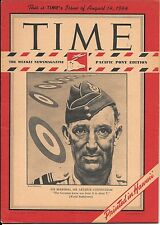 Time Magazine Pacific Pony Edition Aug 14, 1944. Air Marshal Arthur Coningham.