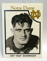 "Art ""Bud"" Boeringer 1925-1926 Notre Dame Football Trading Card Fighting Irish"