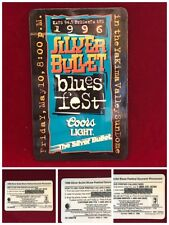 Silver Bullet Coors Light 1996 Yakima Blues Fest KATS FM Phone Card 900/1000