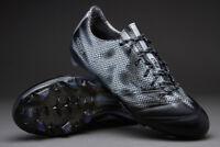 Adidas Men's F50 Adizero FG Leather Football Boots Core Black/Silver (UK 6.5/7)