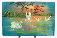 Only One! Swan Mother Of Pearl Inlay with Painting Picture PML02