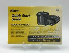 Nikon Coolpix 4500 Quick Start Guide