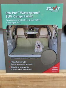 Dog Vehicle Cargo Liner by Solvit - Sta-put Waterproof SUV Cargo Liner Tan Color