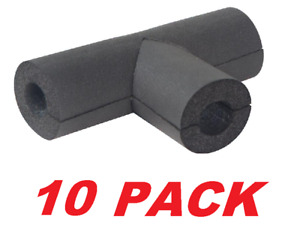 """Everbilt 1/2"""" Rubber Pipe Insulation Tee HVAC / Water Pipes Insulation (10 PACK)"""