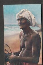 early 1900's unused post card A Fisherman Plate Ltd Colombo
