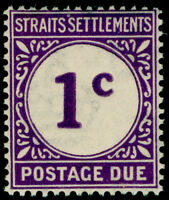 MALAYSIA - Staits Settlements SG D1, 1c slate-purple, VLH MINT. Cat £12.