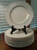 """Vintage Set of Ten Royal Doulton Tiara Bone China H4915 Salad Plates 8"""" Diameter"""