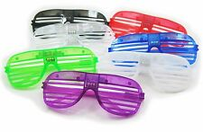 12 Piece High Quality Slotted & Shutter Shades Light Up Unisex Flashing Glasses
