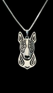 Bull Terrier Pendant Necklace Designer Jewellery with 18 inch Chain - Silver