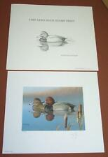 1985 Ohio Duck Stamp Print S/N  by Ron Louque Red Heads No Stamp/folio