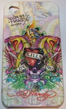 "Coque TPU  iPhone 4 Design ED Hardy""LOVE KILLS SLOWLY"""