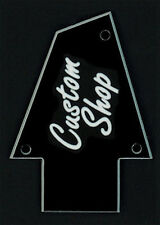 GUITAR TRUSS ROD COVER - Engraved - Fits IBANEZ - CUSTOM SHOP - Black