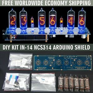 DIY KIT IN-14 Arduino Shield NCS314 Nixie Clock [WITH TUBES] FREE SHIPPING