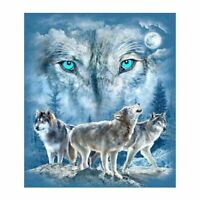 DIY 5D Diamond Embroidery Painting Wolf Cross Stitch Kit Craft Home Decor Y1Z4