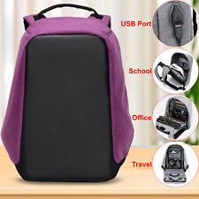 Unisex Anti-theft Laptop Backpack Travel Business School Bag Rucksack USB Port