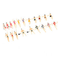20pcs HO Scale 1:100 Painted Model Figures People Swimmer Activity