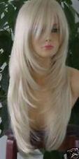 Mode Wigs Neu Lang Silber Weiß Mode Perücke