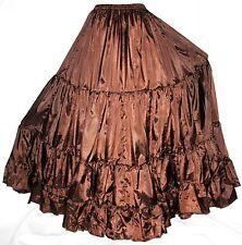 Brown 25 Yard S M L Tribal Gypsy Boho Flamenco Belly Dance Dancing Circle Skirt
