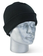 Unisex Black Thinsulate Fine Smooth Knit Beanie Hat Thermal Ski Hats 40G 3M