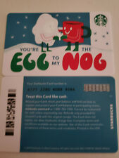 Starbucks Gift Card You're the EGG to my NOG series # 6171 No Value Never Used