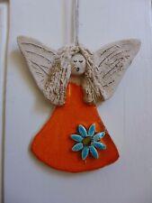 ANGELO in ceramica da appendere ARTE fatto a mano realizzato a mano BELLISSIMI COLORI Fattoria shop 05-01 S