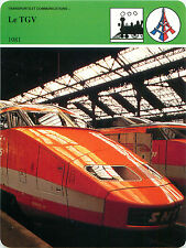 FICHE Train TGV 1981 Gare de Lyon Paris-Marseille SNCF Chemin de Fer FRANCE 80s