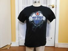 Pre-Owned Edmonton Oilers Superman Black T Shirt Size Medium