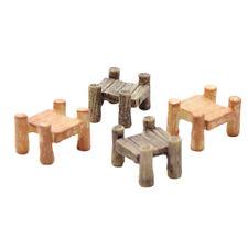 OP 6 x DIY Garden Miniature Wood Bridge Figurine Craft Micro Landscape Decor C27
