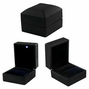 Box LED Lighted Creative Case Holder Display Gift Ring jewelry
