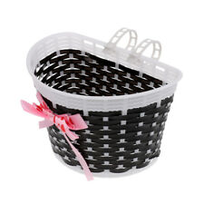 Bicycle Pannier Kids Junior Bike Front Shopping Basket for Children Black