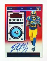 2019 Panini Contenders Darrell Henderson AUTO RC, RED SP, Rams Rookie!