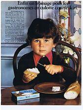 PUBLICITE ADVERTISING 104 1969  KIRI fromage pour les gastronomes