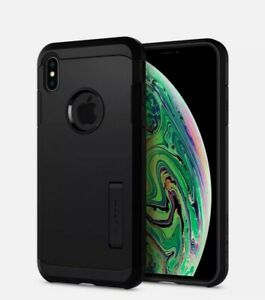 iPhone XS max Case, Spijjen Tough Armor Shockproof Protective Cover
